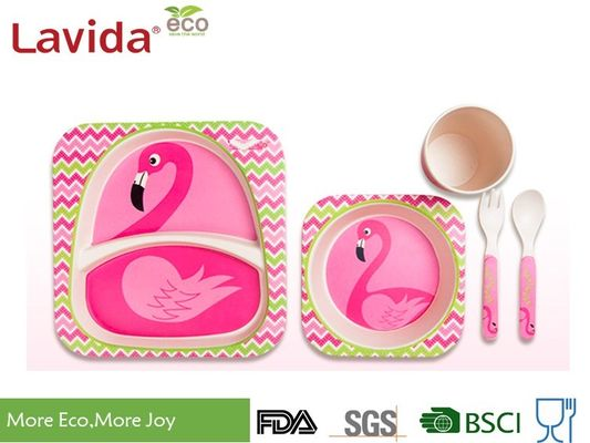 Bamboo Kids Sets Set BPA Free Food 5 Pieces رایگان فلزات سنگین